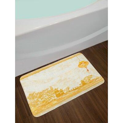 Old Pale Yellow Lantern Bath Rug