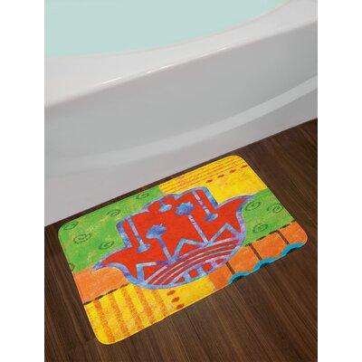 Colorful Multicolor Hamsa Bath Rug