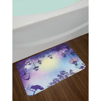 Ancient Violet Multicolor Lantern Bath Rug