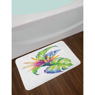 Tropical Multicolor Plant Bath Rug
