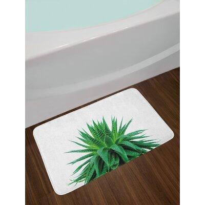 Medicinal Fern Green Plant Bath Rug