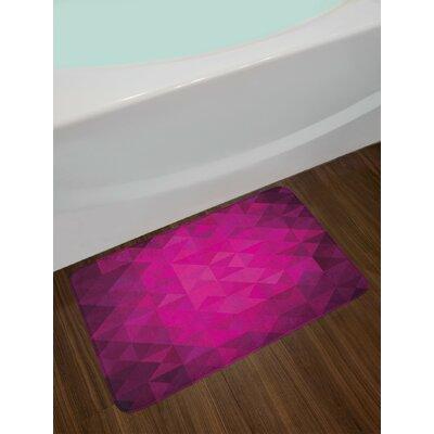 Vibrant Hot Pink Purple Plum Hot Pink Bath Rug