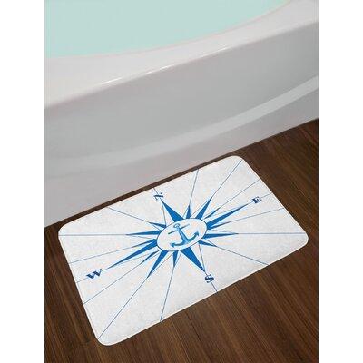 Royal Royal Blue Compass Bath Rug