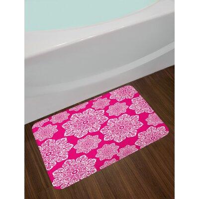 White Hot Pink White Hot Pink Bath Rug