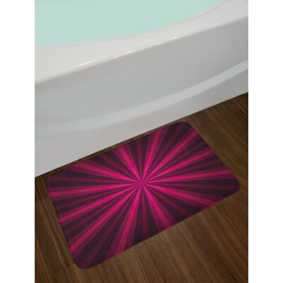 Abstract Pink Fuchsia Purple Hot Pink Bath Rug