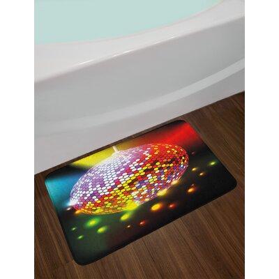 Vibrant Multicolor Popstar Party Bath Rug