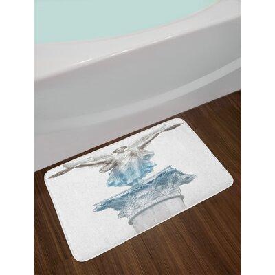 Antique Pale Blue Umber Toga Party Bath Rug