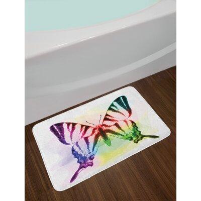 Butterfly Multicolor Swallowtail Butterfly Bath Rug