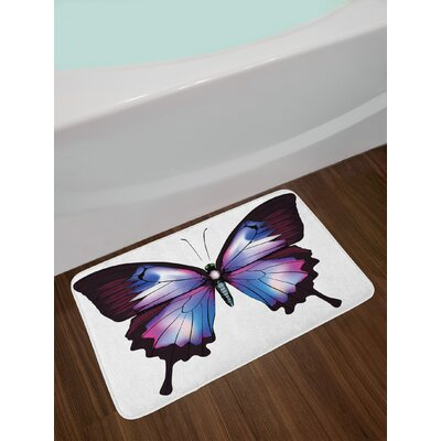 Vivid Violet Blue Bath Rug