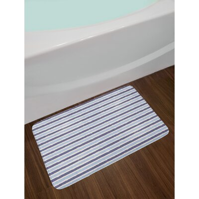 Abstract Baby and Cadet Blue Harbour Stripe Bath Rug