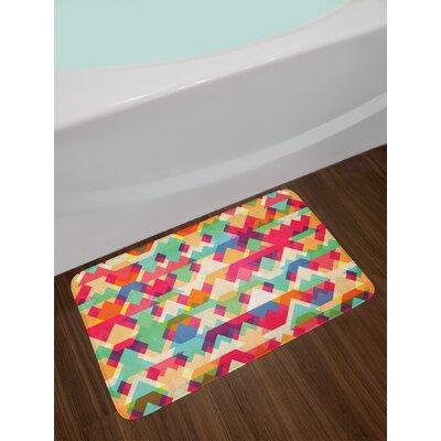 Abstract Multicolor Indie Bath Rug