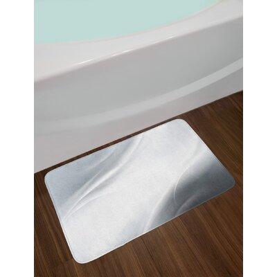 Abstract Gray Pale Grey White Grey Bath Rug