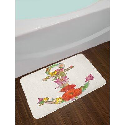 Composition Multicolor Anchor Bath Rug