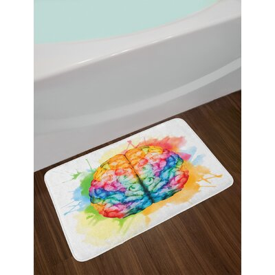 Vibrant Multicolor Watercolor Bath Rug