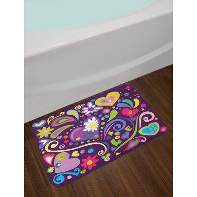 Love Multicolor Doodle Bath Rug