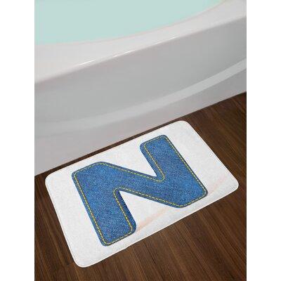 Retro Letter D Bath Rug Letter: N