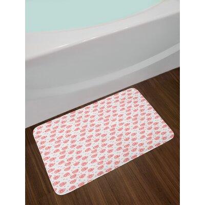 Abstract Romantic Bath Rug