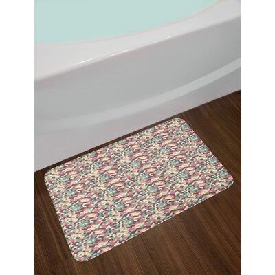 Mosaic Style Geometric Bath Rug
