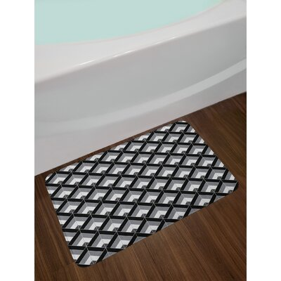 Grey and Black Bath Rug