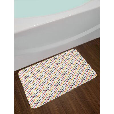 Diagonal Striped Bath Rug