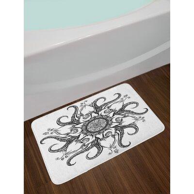 Sea Mandala Octopus Bath Rug