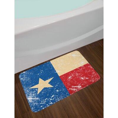 Grunge Flag Texas Star Bath Rug