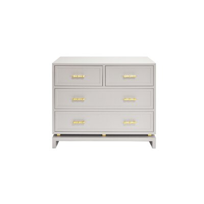 4 Drawer Accent Chest Color: Matte Gray Lacquer