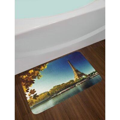 Seine Eiffel Tower Bath Rug