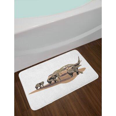 African Elephant Bath Rug