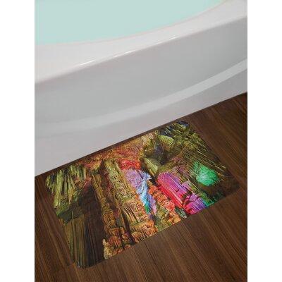 Colorful Natural Cave Bath Rug