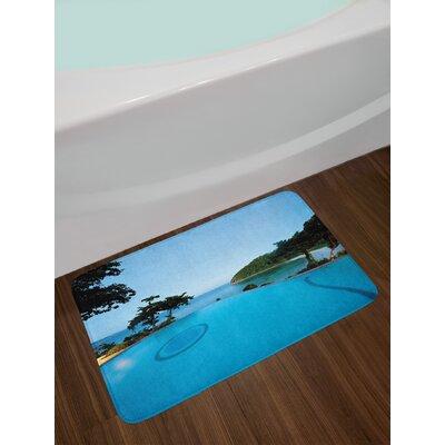 Pool Landscape Bath Rug