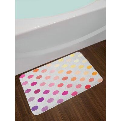 Gradient Polka Dots Bath Rug