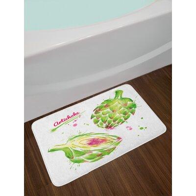Artichoke Watercolor Bath Rug