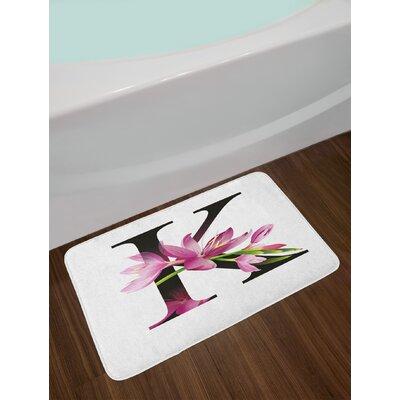 Letter K Blooming Bath Rug