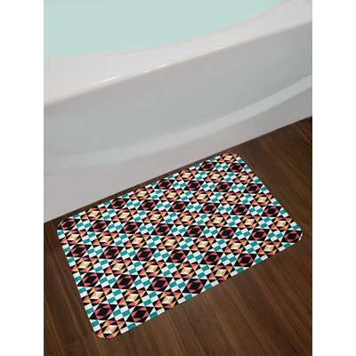 Soft Colored Geometric Bath Rug