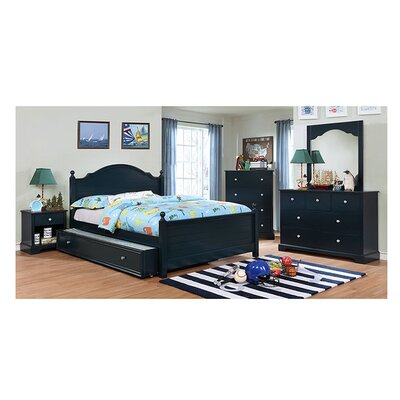 Sweet Panel Bed Size: Twin, Bed Frame Color: Blue
