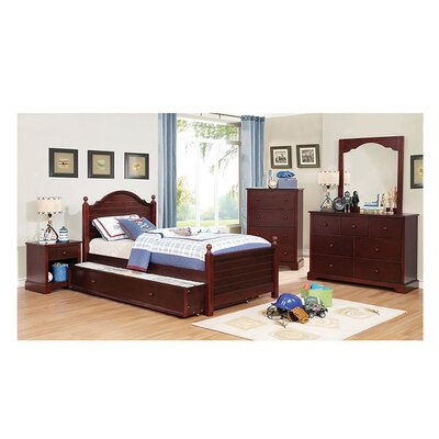 Sweet Panel Bed Size: Full, Bed Frame Color: Cherry