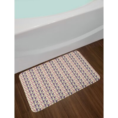 Ambesonne Paisley Bath Mat by, Artistic and Ornamental Flowers Blossoming on Leafy Branches with Little Daisies, Plush Bathroom Decor Mat with Non Slip Backing, 29.5 W X 17.5 W Inches, Multicolor
