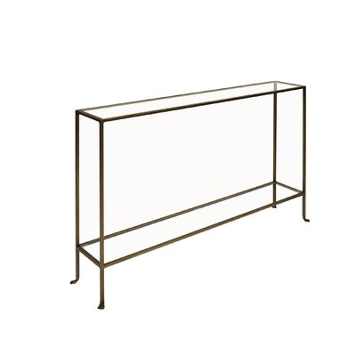 "Console Table Color: Bronze, Size: 33"" H x 55"" W x 10"" D"