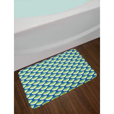 Geometric Angled Abstract Bath Rug