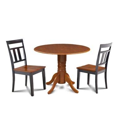 Percival 3 Piece Drop Leaf Dining Set Table Color: Saddle Brown