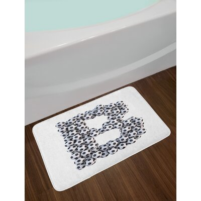 Realistic Letter A Bath Rug Letter: B