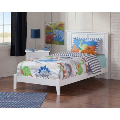 Alanna Twin Panel Bed Bed Frame Color: White