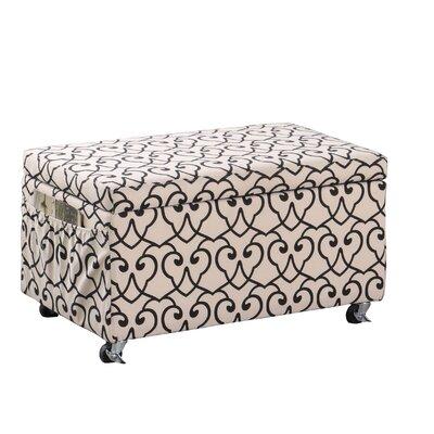 Beauregard Stencil Upholstered Storage Bench