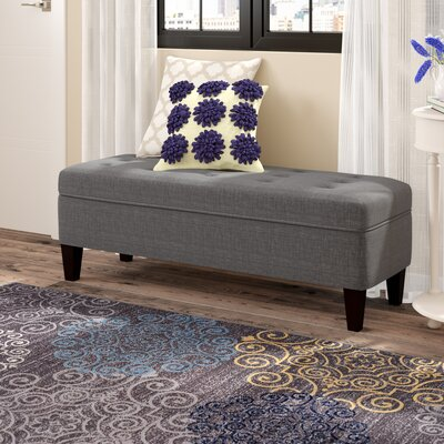 Gaither Upholstered Bench Color: Dark Gray