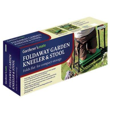 Souza Foldaway Garden Kneeler and Seat Accent Stool Frame Color/ Top Color: Black/Green