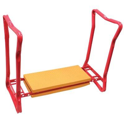 Souza Foldaway Garden Kneeler and Seat Accent Stool Frame Color/ Top Color: Pink/Orange