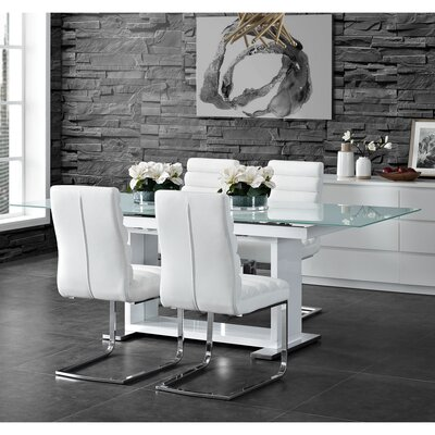 Peasely 5 Piece Extendable Dining Set