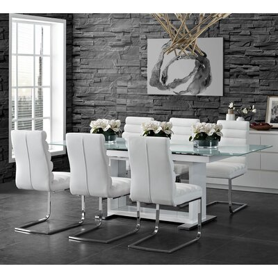 Peasely 7 Piece Extendable Dining Set
