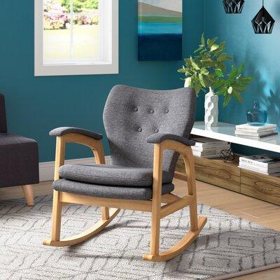 Saulsberry Fabric Rocking Chair Fabric: Gray